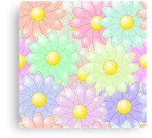 Multi-colored Flower Pop Canvas Print