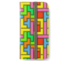 bright yellow tetris iPhone Wallet/Case/Skin