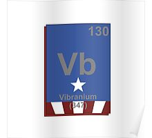 Vibranium Periodic Table - Captain America Poster