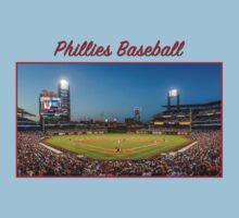 Phillies Baseball One Piece - Short Sleeve