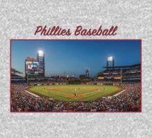 Phillies Baseball One Piece - Long Sleeve