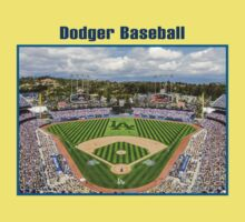Dodger Baseball Baby Tee
