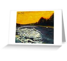 Weir at Sion Mills, Tyrone - Ireland Greeting Card