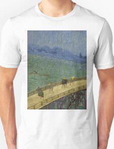 Vincent Van Gogh  - Bridge in the rain after Hiroshige, 1887 Unisex T-Shirt