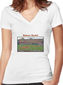 Baltimore Baseball Women's Fitted V-Neck T-Shirt