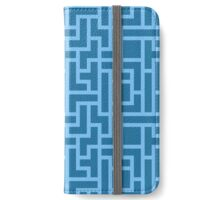 Blue teris dark iPhone Wallet/Case/Skin
