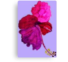 Hibiscus in different hues of pink and purple watercolor Canvas Print