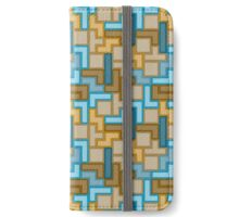 Blue Brown Tetris iPhone Wallet/Case/Skin