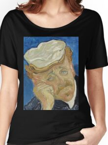 Vincent Van Gogh  - Dr Paul Gachet, 1890 Women's Relaxed Fit T-Shirt
