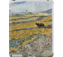 Vincent Van Gogh  - Enclosed Field with Ploughman, 1889 iPad Case/Skin