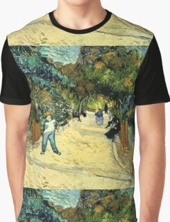 Vincent Van Gogh  - Entrance to the Public Gardens in Arle, 1888 Graphic T-Shirt