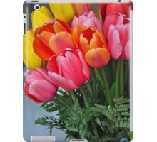 Colorful spring tulips  iPad Case/Skin