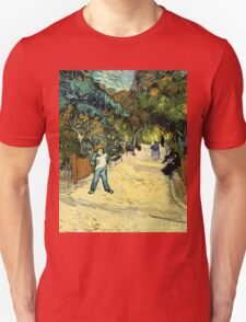 Vincent Van Gogh  - Entrance to the Public Gardens in Arle, 1888 Unisex T-Shirt
