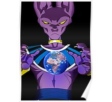 Beerus Destroy Earth Poster