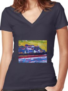 Youghal, Cork Women's Fitted V-Neck T-Shirt