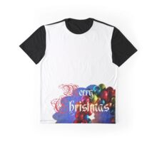 Christmas - wreath - Merry Christmas - Xmas Graphic T-Shirt