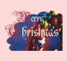 Christmas - wreath - Merry Christmas - Xmas Baby Tee