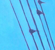 Birds, Wires 5 Sticker