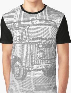 Grey Bay Campervan Montage Graphic T-Shirt