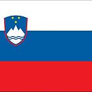 Slovenia Civil Flag Stickers by Mark Podger