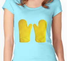Oven Gloves Yellow Women's Fitted Scoop T-Shirt