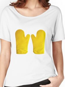 Oven Gloves Yellow Women's Relaxed Fit T-Shirt