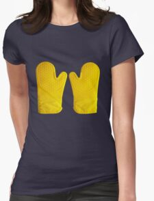Oven Gloves Yellow Womens Fitted T-Shirt