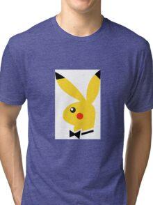 Playboy/pikachu  Tri-blend T-Shirt