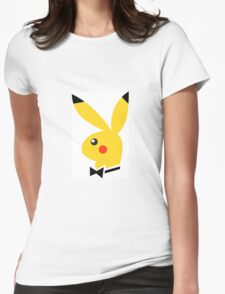 Playboy/pikachu  Womens Fitted T-Shirt
