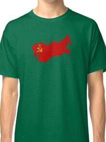 Flag Map of the Soviet Union Classic T-Shirt