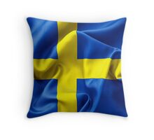 Sweden Flag Throw Pillow