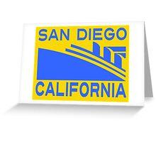 SAN DIEGO CALIFORNIA Greeting Card