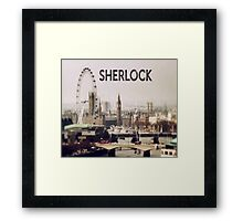 Sherlock & London Framed Print
