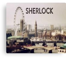 Sherlock & London Canvas Print