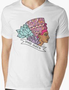 Nefertiti Cleopatra Egyptian lotus beyonce glitter yas yaass queen broad city girly print Mens V-Neck T-Shirt