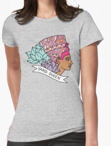 Nefertiti Cleopatra Egyptian lotus beyonce glitter yas yaass queen broad city girly print Womens Fitted T-Shirt