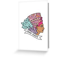Nefertiti Cleopatra Egyptian lotus beyonce glitter yas yaass queen broad city girly print Greeting Card