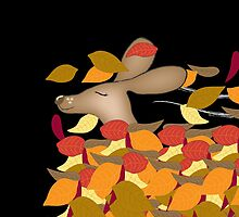 Autumn Dachshund by Diana-Lee Saville