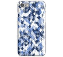 Blue White Harlequin Abstract iPhone Case/Skin
