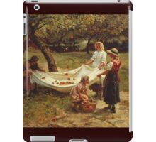 Vintage famous art - Frederick Morgan - The Apple Gatherers 1880 iPad Case/Skin