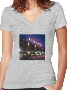 Braves Baseball Women's Fitted V-Neck T-Shirt