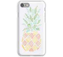 Crosshatch Pineapple Print iPhone Case/Skin