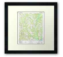 USGS TOPO Map Alabama AL Red Level 304926 1971 24000 Framed Print