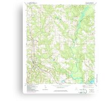 USGS TOPO Map Alabama AL Red Level 304926 1971 24000 Canvas Print
