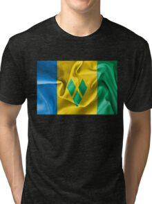 Saint Vincent and the Grenadines Flag Tri-blend T-Shirt
