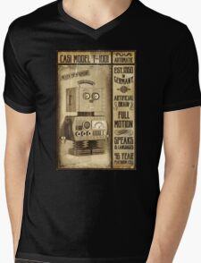 Fictional Vintage Robot Poster Mens V-Neck T-Shirt