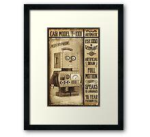 Fictional Vintage Robot Poster Framed Print