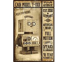 Fictional Vintage Robot Poster Photographic Print