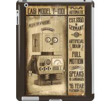 Fictional Vintage Robot Poster iPad Case/Skin