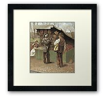 Vintage famous art - George Bacon Wood - The Fifteenth Amendment  Civil Rights Framed Print